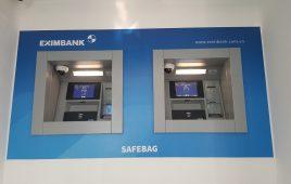 Máy thu tiền theo túi niêm phong Eximbank Bình Dương 2018