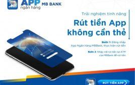 App MBBank: Rút tiền ATM không cần thẻ – an toàn tuyệt đối